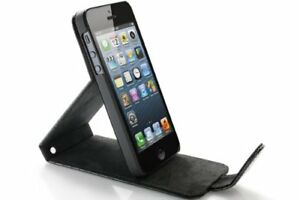 QDOS-Croco-Leather-Flap-Hard-Case-for-iPhone-5-5S-Black