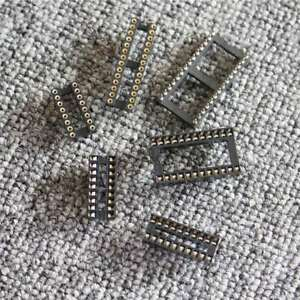 20pcs-100pcs-IC-Socket-DIP-6Pin-40Pin-Integrated-Circuit-Adaptor-Solder-Type