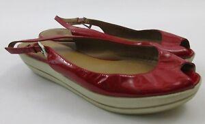 STUART-WEITZMAN-Red-Patent-Leather-Peep-Toe-Slingback-Low-Platform-Sandals-9