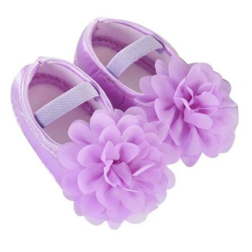 Newborn Baby Girl Princess Crib Shoes Christening Pram Anti-slip Prewalker K0