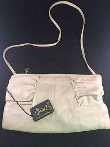 Image Is Loading Brio Vintage Khaki Color Genuine Leather Womens Handbag