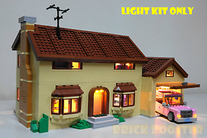 USB Powered LED Light Kit for Lego 71006 The Simpsons House