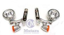 Mutazu Auxiliary LED Lighting Turn Signal Spot Fog Light for 94-2013 Harley
