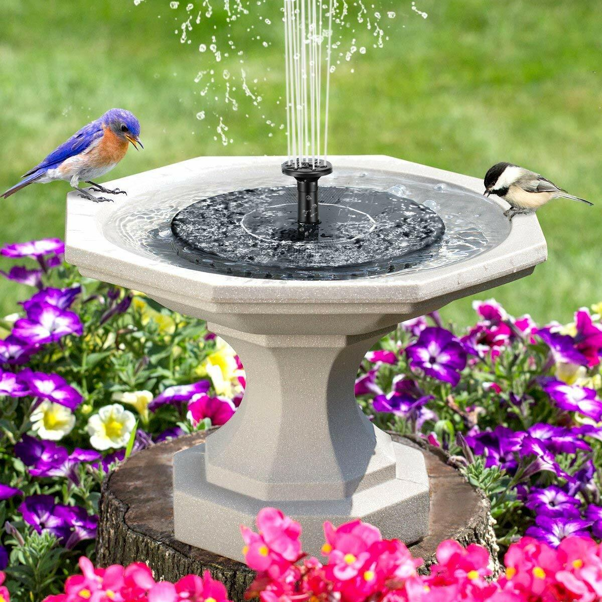 Outdoor Solar Bird Bath Water Fountain Pump Floating Pool Garden Aquarium