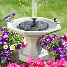 Outdoor Solar Power Bird Bath Water Fountain Pump Floating Pool Garden Aquarium