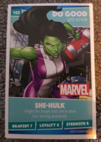 Number 102 She-HulkSainsbury/'s Disney Heroes 2019 Card