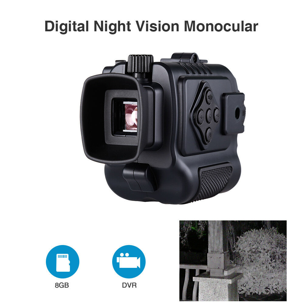 8GB 1-5X18 Multi-Purpose Night Vision Monocular 200M Built-in microphone Scope