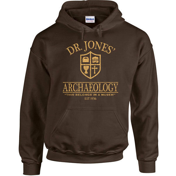 492 Dr. Jones Archaeology Hoodie funny 80s movie costume party Indiana temple