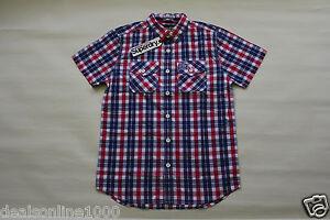 Superdry-Men-039-s-Washbasket-Plaid-Short-Sleeve-Slim-Fit-Shirt-Sz-S-M-L-XL-2XL