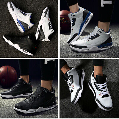 Mens Fashion Sports Shoes High Top Sneakers Round Toe Shockproof Flats 1Pair