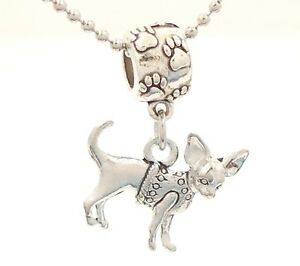 Chihuahua Dog Breed Charm on Pawprint Slider for Bracelet OR Necklace