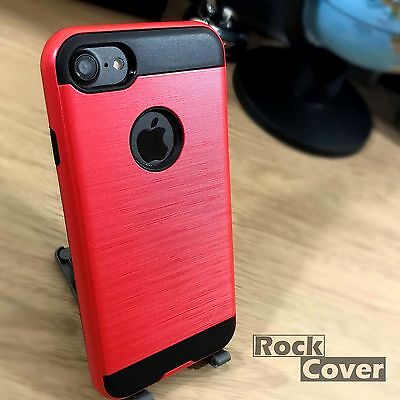 Apple Iphone 8 Custodia Rigida Robusta Rosso, Tra Cui Protezione Schermo Spedizione Gratuita- Sconto Complessivo Della Vendita 50-70%