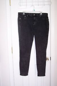 Womens-Faded-Glory-14-Skinny-Black-Jean-Leggings