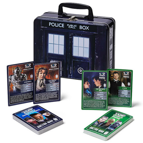 2 packs de top TRUMPS grand cadeau Doctor who top TRUMPS collectors tin
