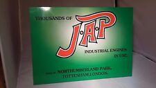 Placa de visualización JAP Motor Estacionario. Rally signo. taller, garaje