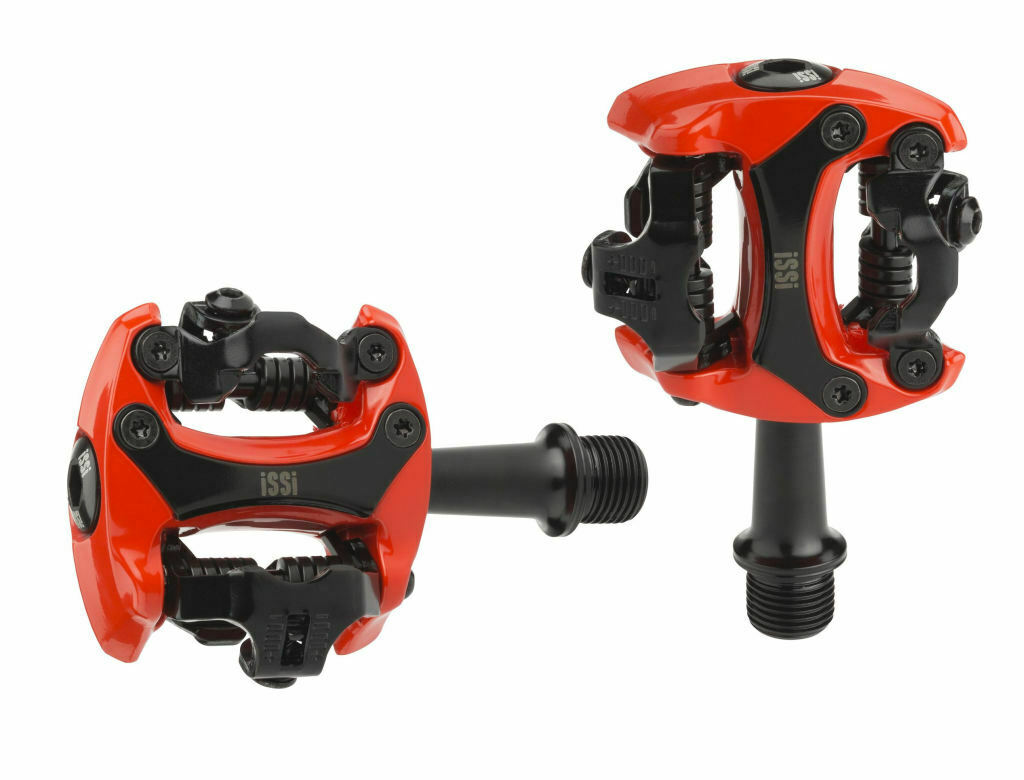 ISSI, Flash II pedal, his-Vis, clic pedales rojo spd pedales