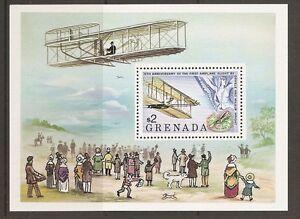 Grenada-SC-894-75th-Anniversary-of-the-first-flight-MNH