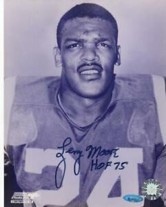 LENNY-MOORE-HOF-75-COLTS-TRISTAR-SIGNED-AUTOGRAPHED-8X10-PHOTO