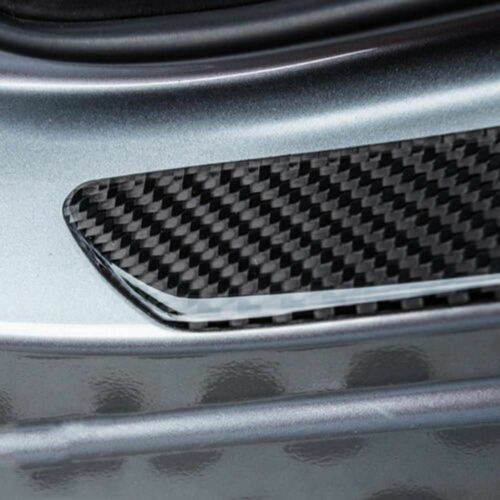 4pcs For VW Car SUV Door Sill Cover Carbon Fiber Plate Panel Step Protector