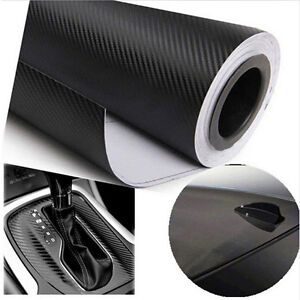 Black-Car-Carbon-Fiber-Vinyl-Wrap-Roll-Film-Decal-Sheet-DIY-Car-Styling