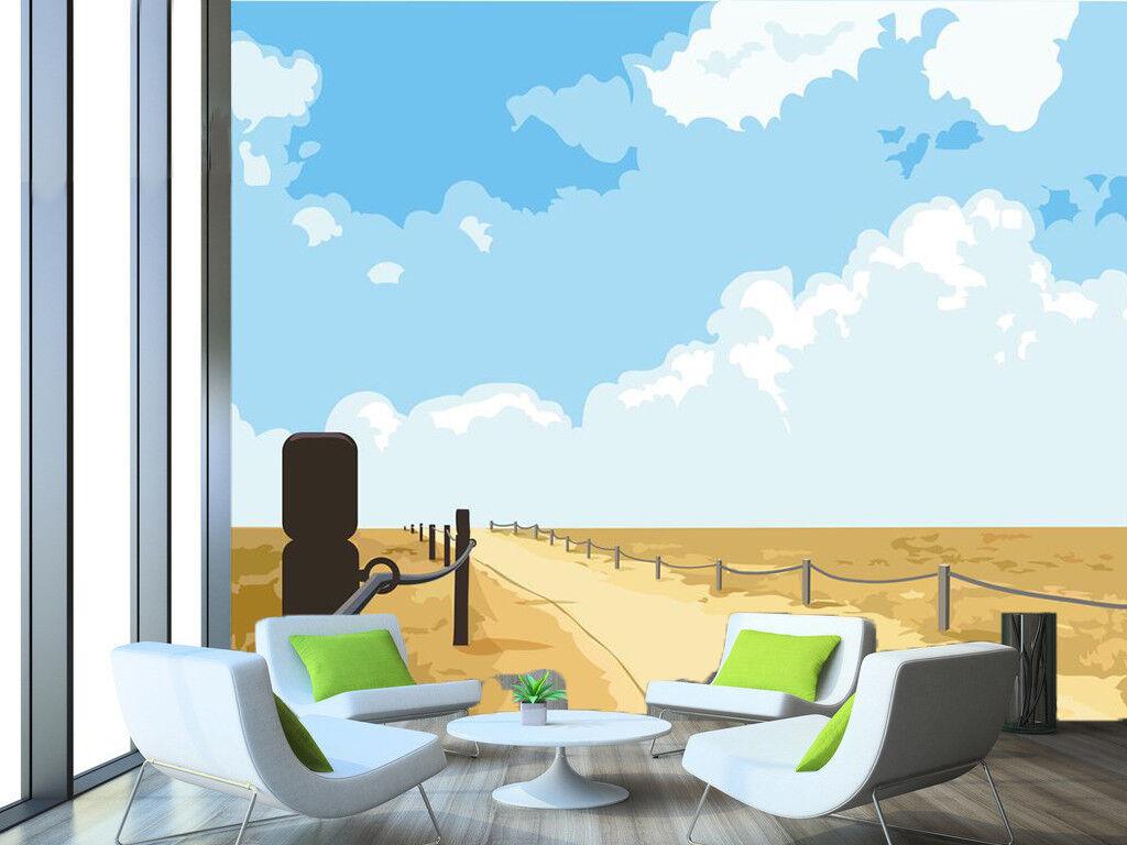 3D Gelb Lawn 7392 Wallpaper Mural Wall Print Wall Wallpaper Murals US Summer
