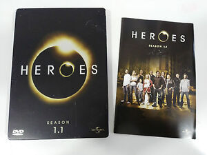 Heroes-TV-Series-Season-1-1-4-DVD-Steelbook-Extra-English-Deutsch-Am