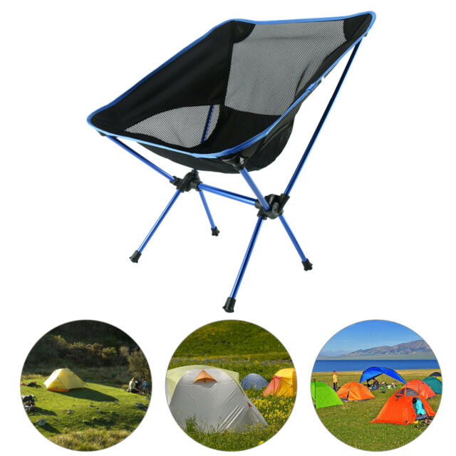 Portable Folding Outdoor Camping Fishing Picnic BBQ Beach Chair Seat 4 Cols AU