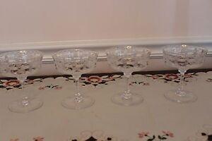 Rare-Hawkes-American-Brilliant-Cut-Glass-Champagne-Goblets-Set-of-4