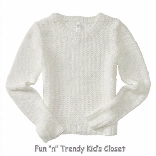 NWT PS Aeropostale Girls Size 10 12 Ivory Acrylic Kids/' Solid Textured Sweater
