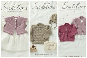 New-Sublime-Baby-Cashmere-Merino-Silk-DK-patterns-6166-6168-2-90-each