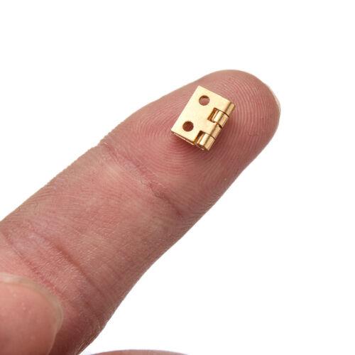 10Pcs Mini Small Metal Hinge for 1//12 House Miniature Cabinet Furniture  KW