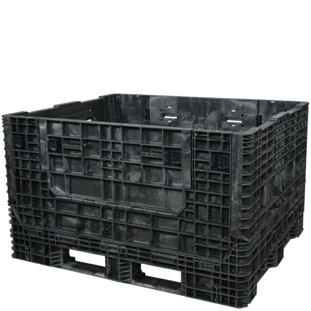 "DuraGreen 57"" x 48"" x 34"" Extended Length Collapsible Bulk Container (2 Doors)"