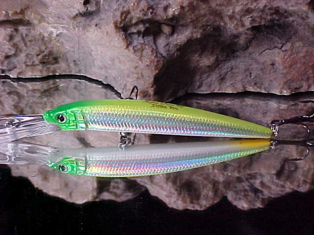 "Strike Pro 3 1//2/"" ALPHA Diver Deep Minnow JL-061F#SM50E in WEAPON for Walleye"
