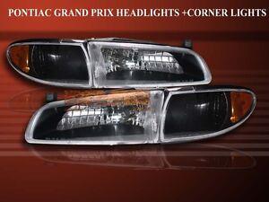 Image Is Loading 1997 2003 Pontiac Grand Prix Crystal Black Headlights