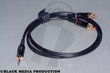 High End Audiokabel SC Onyx 2025 Mini Klinke 3,5mm auf 2x Cinch 1m HiCon *NEU*