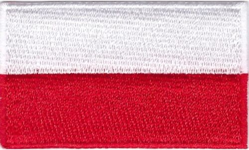 Poland Flag Small Iron On Sew On Patch Badge 6 x 3.5cm POLSKA POLISH