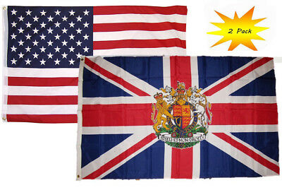 USA American /& Old South Africa 1928-1994 Flag 3x5 3'x5' Wholesale Set 2 Pack