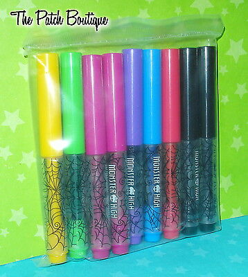 MONSTER HIGH MONSTER MAKER MACHINE PLAYSET REPLACEMENT SET 9 PC LOT MARKERS