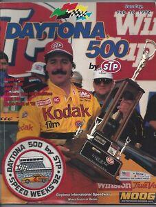Vintage Program 1992 Daytona 500 Nascar Ernie Ervin Kodak Goody's 300 Winston