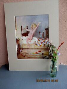 Vintage-Eulie-illustration-d-039-enfant-au-coucher-1929