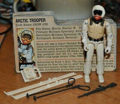 25TH GI JOE FIGURE ARCTIC TROOPER SNOW JOB 100/% COMPLETE W//FILE CARD