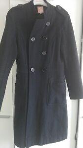 manteau noir cintré etam