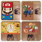 Super Mario Luigi Cute Game Velboa Floor Rug Carpet Room Doormat Non-slip Mat