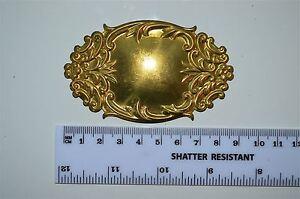 Original antique pressed brass furniture mount mirror cartouche emblem G12