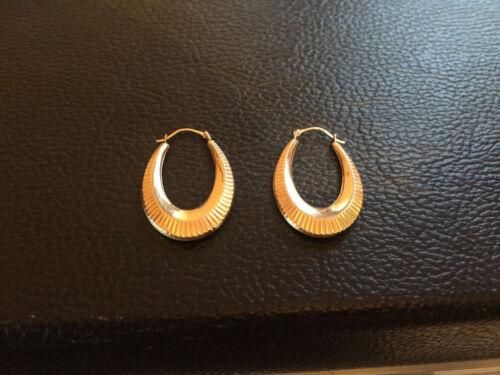 Puffed Teardrop Hoop Earrings in 14K Gold