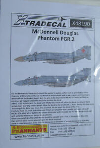 Xtradecal-1-48-X48190-McDonnell-Douglas-Phantom-FGR-2-F-4M-decal-sheet