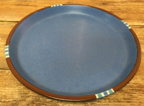 Dansk Sky Blue Mesa 1 Dinner Plate Japan Rust White Edge Southwest 19160