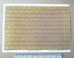 1-12th-dolls-house-yellow-roof-tile-self-adhesive-vinyl-A4-sheet-297x210-mm