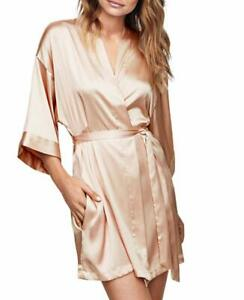 Victoria S Secret Very Sexy Short Satin Kimono Robe Champagne M L Nwt Ebay