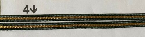 Upholstery Braid 10mm Wide Embroidery Civil War Reenactment CARD1